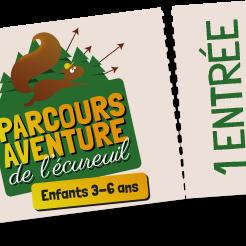 Enfant 3 à 6 ans Parcours Aventure de l'Ecureuil