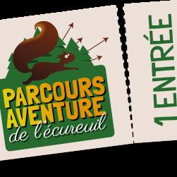 Tarif Adulte Parcours Aventure de l'Ecureuil