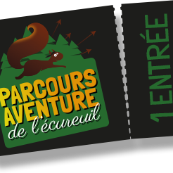 Parcours Super Noir Parcours Aventure de l'Ecureuil