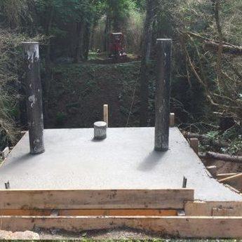 Construction des fondations - Blois - Passerelles 43
