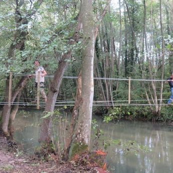 Passerelle suspendue - Bazancourt - Passerelles 43